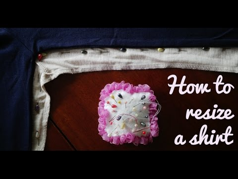 How to resize a shirt [Tutorial]