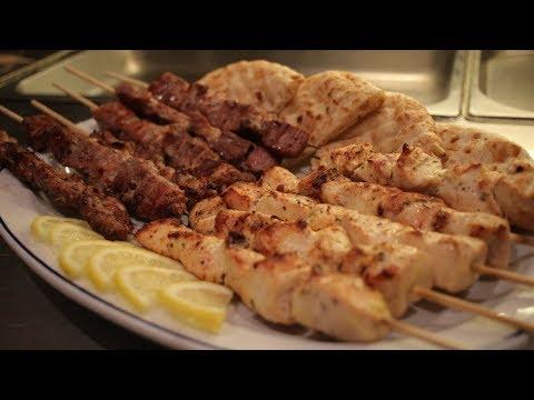 How to make Greek Souvlaki (Chicken & Pork) Assyrian Dishes around the World