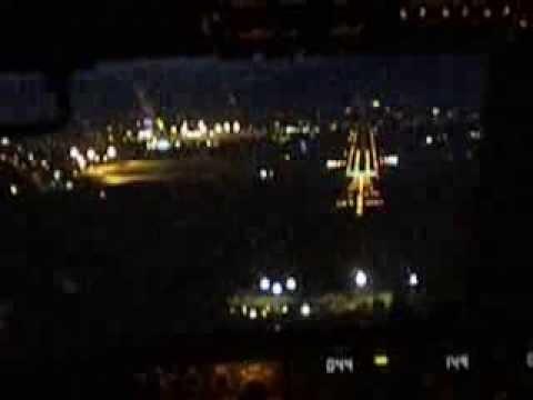 Boeing 737 Night Landing Pisa Italy
