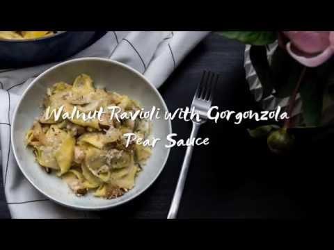 Walnut Ravioli with a Gorgonzola Pear Sauce
