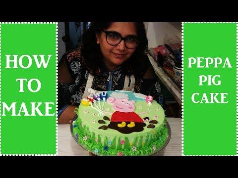How To Make Peppa Pig Cake: cake decorating tutorial