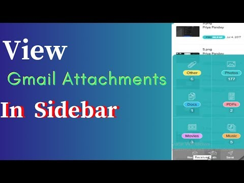 How To View Gmail Attachments In A Sidebar