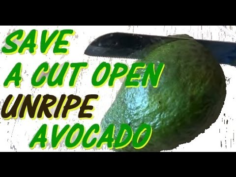 Save and ripen an unripe opened avocado - avocado cut 'n' shut ✔