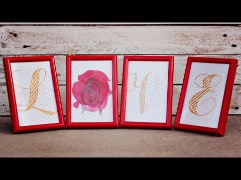 Easy Valentines Sign Decor (Free Printable)