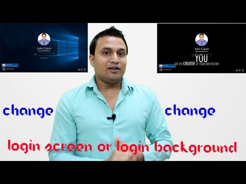 How to change login screen or login Background in Windows 10 Hindi/Urdu