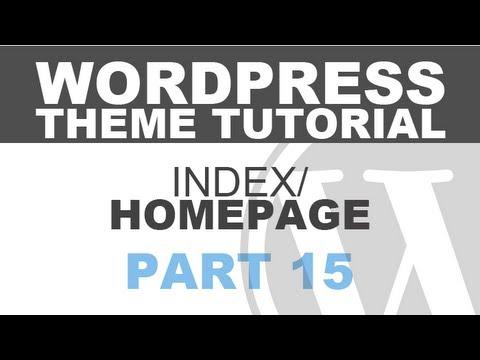 Responsive Wordpress Theme Tutorial - Part 15 - MORE INDEX PAGE