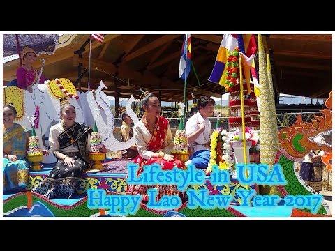 Lifestyle in USA @ Lao temple ไปขายขนมในงานปีใหม่ที่วัดลาว
