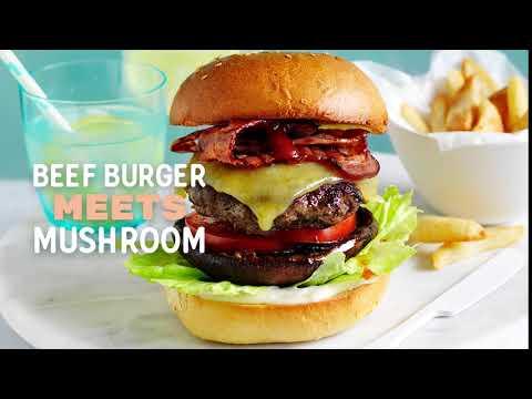 Summer Mushie Mash-ups (Mushrooms/Burger)
