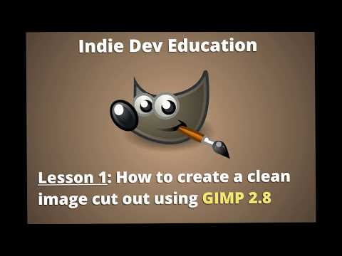Photo Editing Tutorial 1: How To Create a CLEAN image cut out using GIMP 2.8