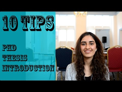10 Tips for Getting the PhD Introduction Done