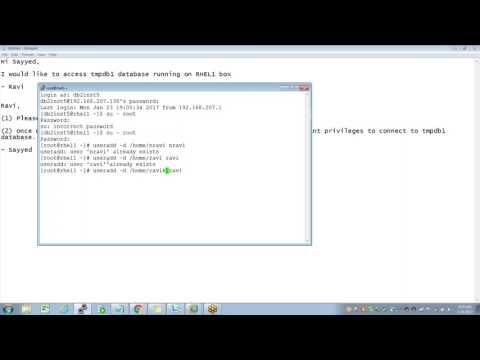 User creation in DB2 LUW