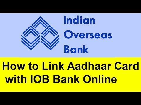 How to Link  Aadhaar Card with IOB Bank online | Tamil Banking