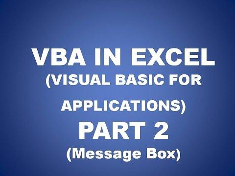 VBA IN EXCEL PART 2 (MESSAGE BOX) Future Key solutions, Rajpura  in Hindi