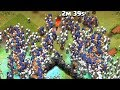 Clash Of Clans 300 Witches And 300 Dragons Raid Mass Gamepla