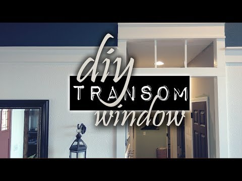 DIY Transom Window   Craftsman Style - Farmhouse Style
