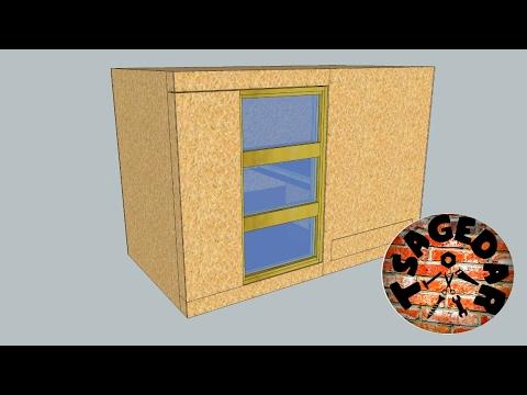 Kurník  #1/3 Sketchup model + dveře / DIY  Hen house #1/3 Sketchup model + door production