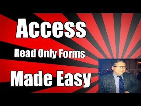 Using a text control to open a form as read only in Access 2007 2010 2013 2016 tutorial
