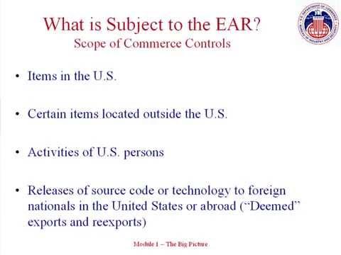 1. Export Control Basics