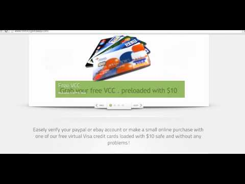 Free Virtual Credit Card VCC | verify your Paypal