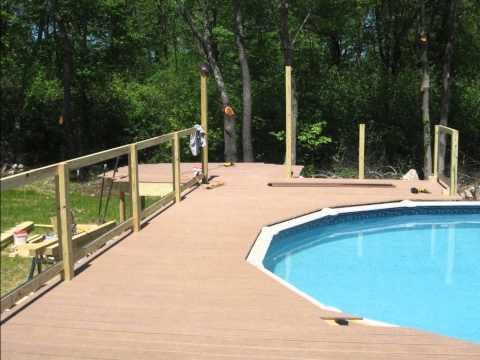 Above Ground Wood Pool Deck Hingham MA