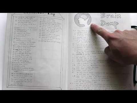 A Dude's Bullet Journal Walkthrough
