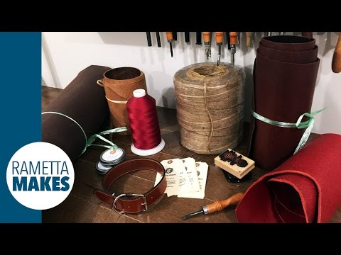 How to Make a Leather Belt or Dog Collar // DIY