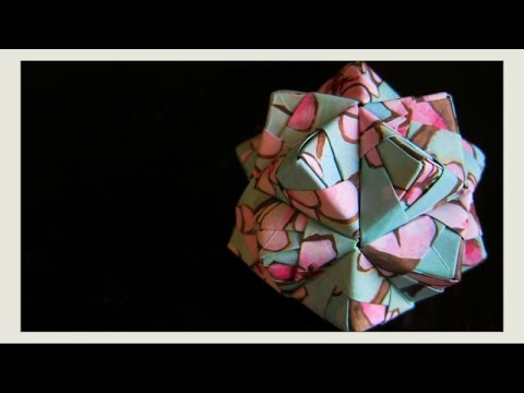 Paper Crafts - Origami Ball - Icosahedron Sonobe Modular Origami Units