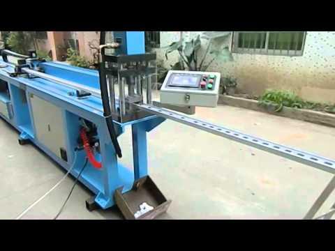 Automatic hole punching machine for aluminum pipe - ladder punching machine
