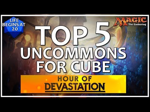 Best Hour of Devastation Uncommons for MTG Cube! Top 5 Peasant Cards