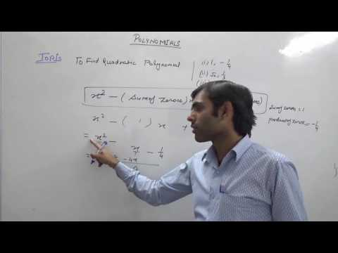 Find Quadratic Polynomial When Sum and Product of Zeroes are Given (Hindi)