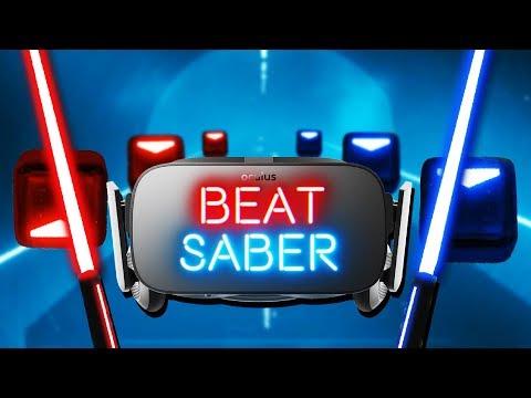 Slicing the Beat! - Beat Saber VR Gameplay - Oculus Rift VR