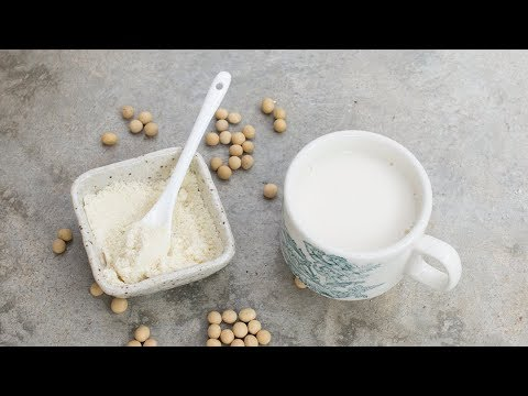 CHINESE ALMOND SOY MILK for Healthier and Younger Looking Skin
