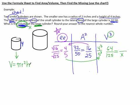 7.4k Use the Formula Sheet to Find A or V Then Find the Missing