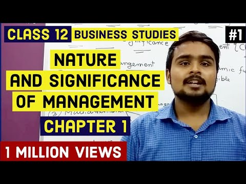 #1, Introduction of management and it's features (Class 12 business)