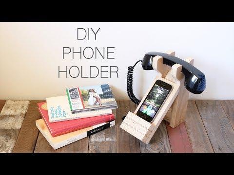 DIY Old School/New School Phone Holder