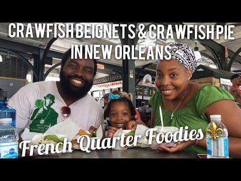 Crawfish Beignets & Crawfish Pie in New Orleans|French Quarter Foodies⚜️