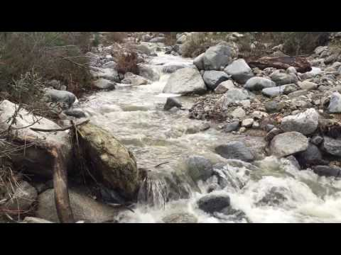 Waterfall recording in Angeles National Forest