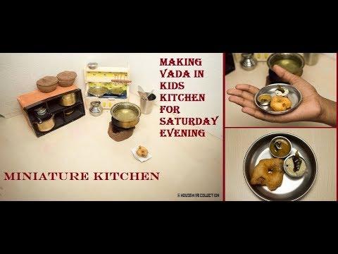 Making Nano Vada in Kids Kitchen