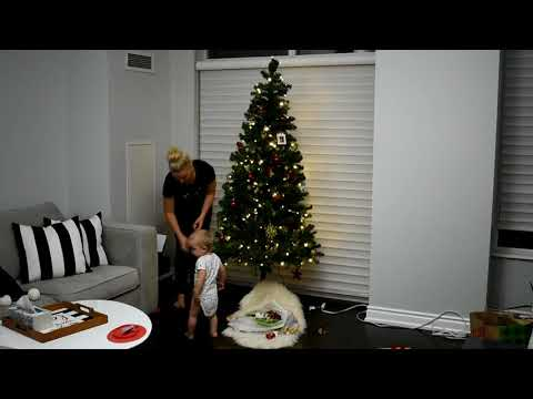How to make your cheap fake Christmas Tree Look Real - Setting up our Tree Early Time Lapse