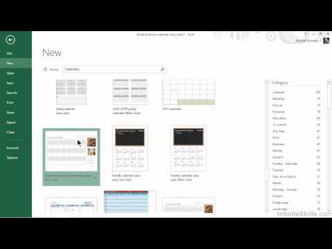 Microsoft Excel for Business Tutorial | Creating Scheduling and Marketing Calendars