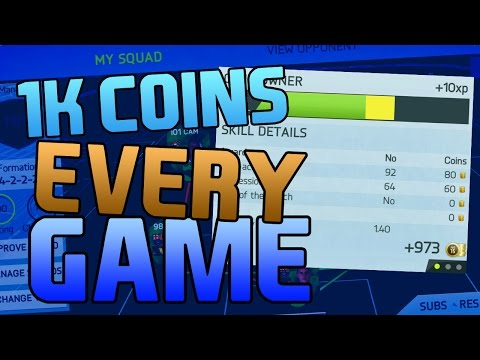 GET 1000 COINS EVERY GAME!! MAKE COINS FAST W/ THIS FIFA GLITCH!! - FIFA 16 IOS / FIFA 15 NS