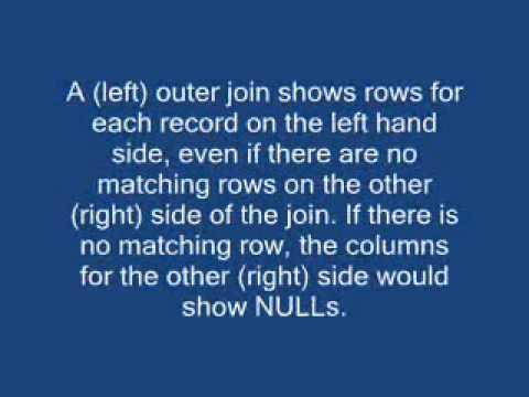Difference between INNER and OUTER joins