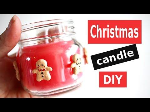 Christmas Candle DIY! Holiday Gingerbread Man CANDLES! XMAS TUTORIAL