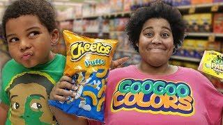 GOO GOO GAGA PRETEND PLAY SHOPPING AT TARGET! Learn to Healthy Foods