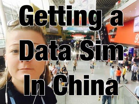 Getting a Data Sim Card in China
