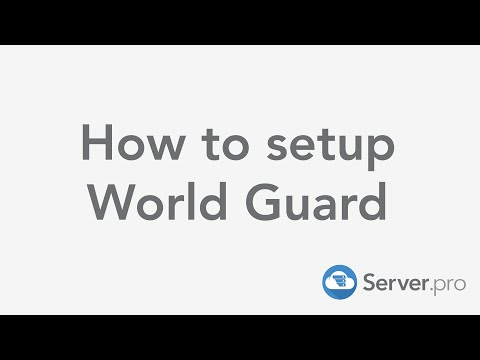How to protect your world with World Guard