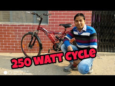 How to make Electric bike at Home (Low Cost) 250 watt very fast speed full DIY Hindi