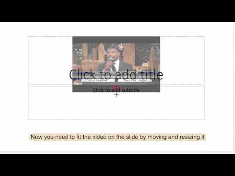How to put YouTube video on PowerPoint
