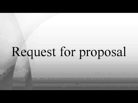 Request for proposal - Wiki Article