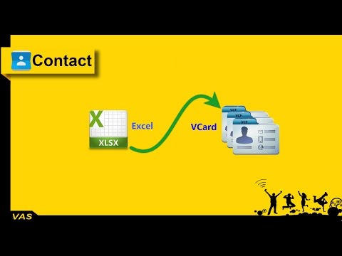 Convert Excel (xls, xlsx,...) to Vcard (VCF)